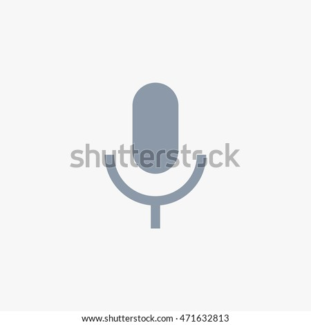 Whatsapp Send Voice Message Vector Icon, Mobile Application User Interface  Microphone Sign