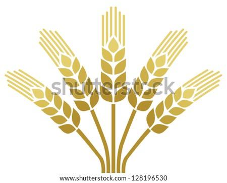 wheat ear icon (wheat design) - stock vector