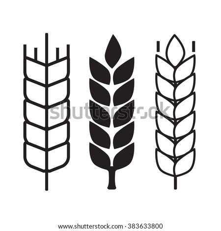 Wheat ear symbols - stock vector