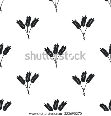 Wheat ears pattern - stock vector