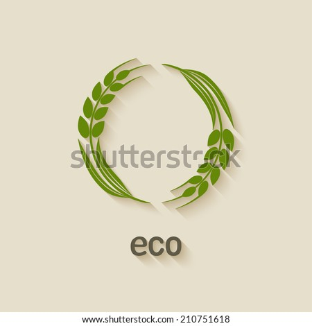 wheat eco symbol  - vector illustration. eps 10 - stock vector