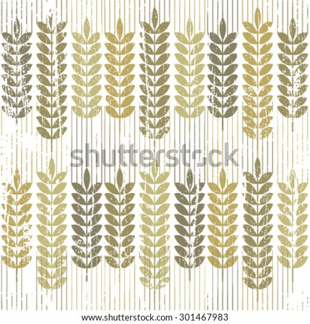 wheat grunge pattern on white