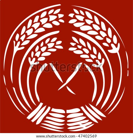 wheat tattoos - stock vector