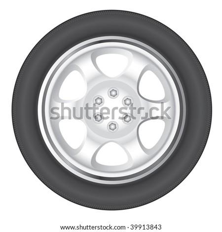 wheel car - stock vector