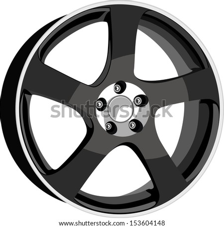 Wheel disk - stock vector