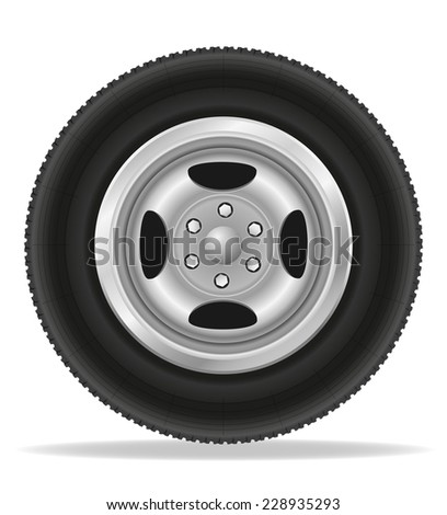 wheel for car vector illustration isolated on white background