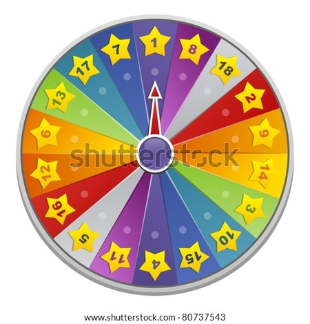 Wheel of fortune for game - stock vector