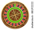 Wheel of fortune isolated on a white background, vector - stock vector