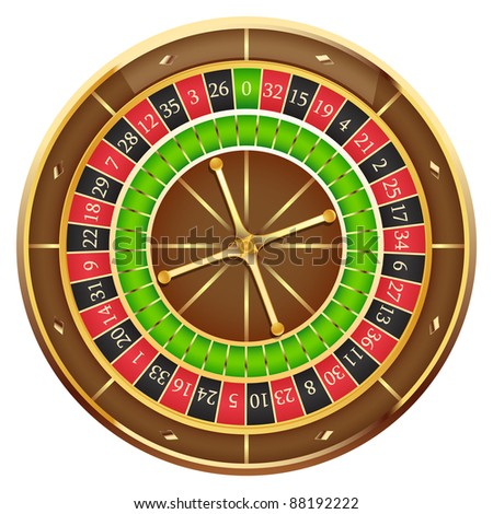 Wheel of fortune isolated on a white background, vector