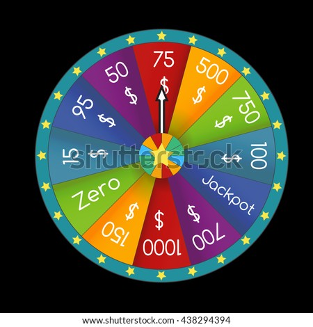 Colorful Fortune Wheel 3d Realistic Wheel Stock Vector ...