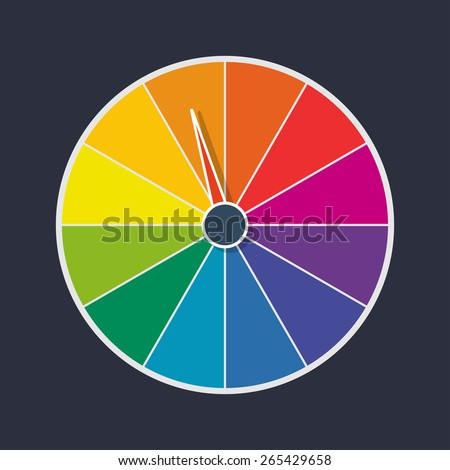 wheel of fortune vector illustration - stock vector