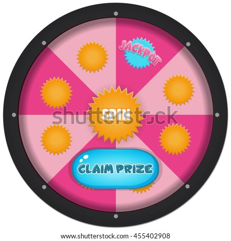 Wheel of fortune with buttons game asset