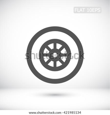 wheel vector icon - stock vector