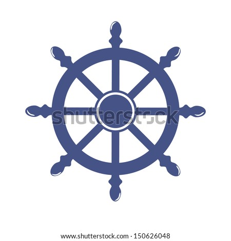 Wheel. Vector symbol - stock vector