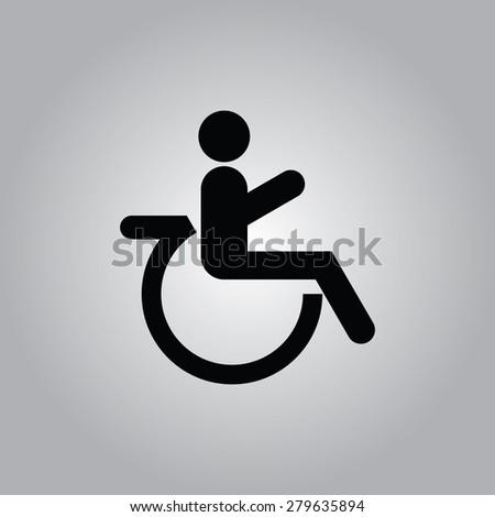 Wheelchair Icon. - stock vector