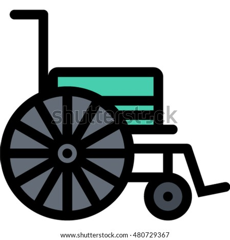 wheelchair outline icon