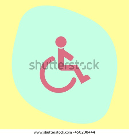 Wheelchair sign vector icon. Disabled person icon. Human on wheelchair sign. Patient transportation symbol.