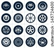Wheels. Rims vector collection. - stock photo
