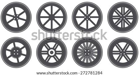 Wheels Set. Vector - stock vector