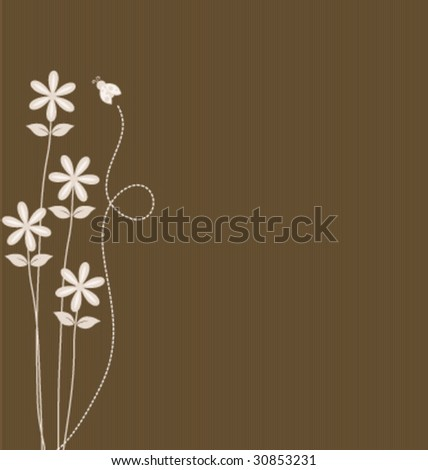 Whimsical Spring background - stock vector