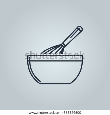 whisk mixing dough icon. Icon is ready for print in any size. Made as gliphicon for web using