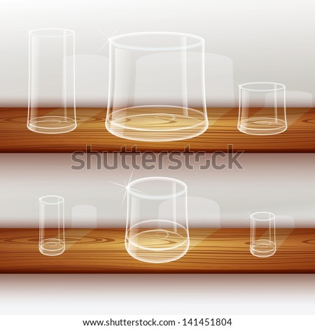 Whiskey shot glass - stock vector