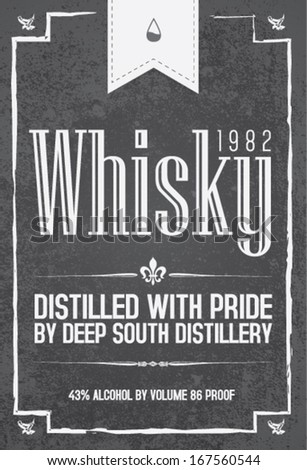 Whisky typo set - stock vector