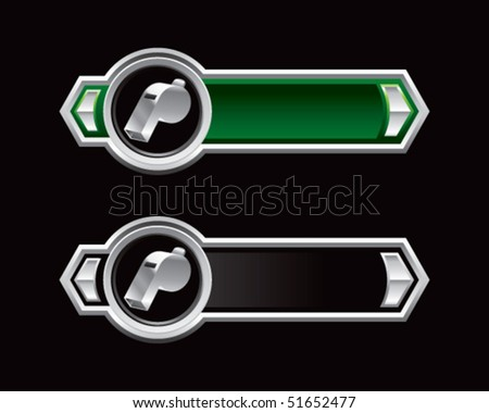 whistle green and black arrows