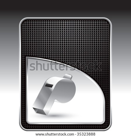 whistle on modern wave background - stock vector