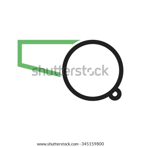 Whistle, referee, coach icon vector image. Can also be used for education and science. Suitable for web apps, mobile apps and print media. - stock vector