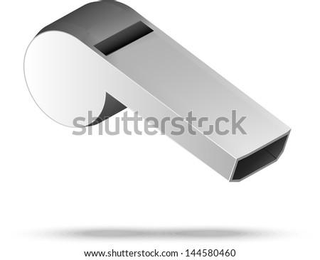 whistle. sport equipment - stock vector