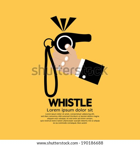 Whistle Vector Illustration - stock vector