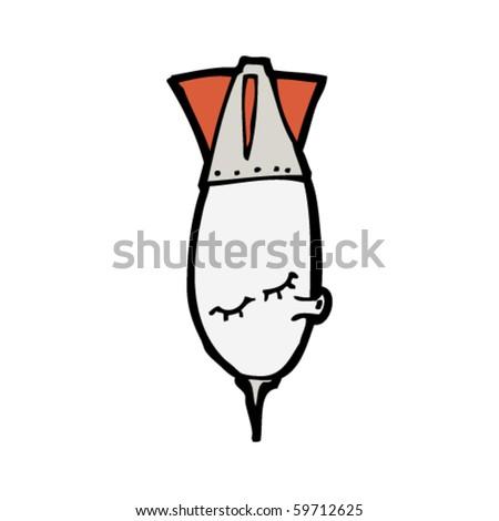 whistling bomb cartoon - stock vector