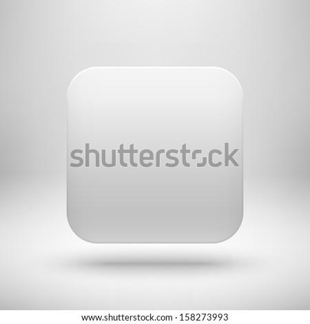White Abstract App Icon Blank Button Stock Vector 158273993 ...
