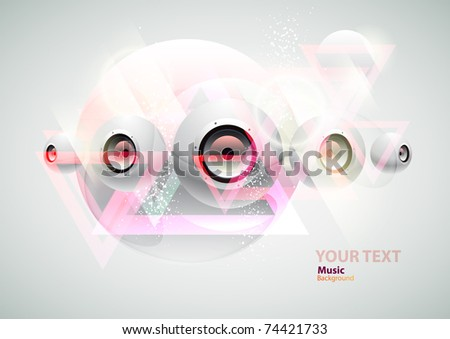 White abstract Loudspeakers - stock vector