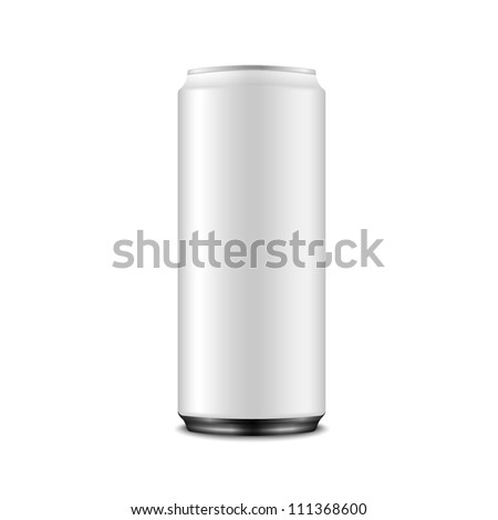 White Aluminum Can: Vector Version - stock vector