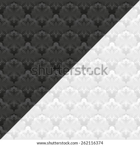 white and black pattern  - stock vector