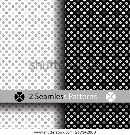 White and black seamless texture. Vector background - stock vector