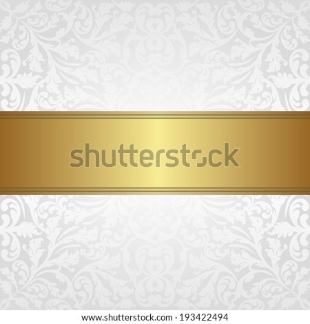 white and gold  background - stock vector