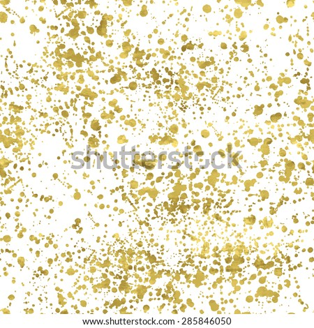 White and gold freehand  pattern. Abstract spray background. Vector illustration.Shiny backdrop. Texture of gold foil. - stock vector