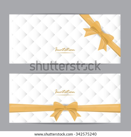 White Gold Gift Voucher Certificate Coupon Stock Vector 342575240 ...