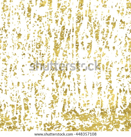 White and gold grunge vintage background. Abstract scratch backdrop. Easy editable vector illustration. Shiny textured poster. Texture of gold foil. - stock vector