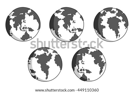 white and grey earth movement set