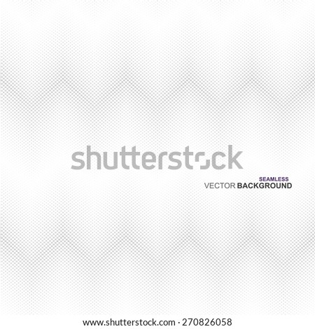 White and grey halftone texture, seamless vector background - stock vector