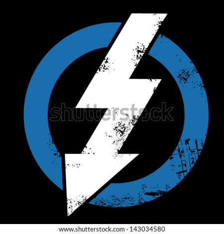White arrow crossing blue ring - stock vector