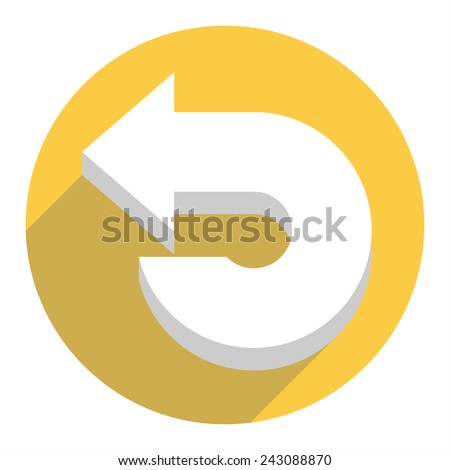 White arrow icon. Vector illustration - stock vector