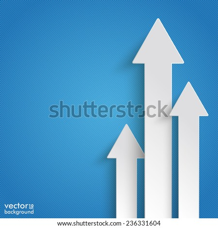 White arrows on the blue background. Eps 10 vector file. - stock vector