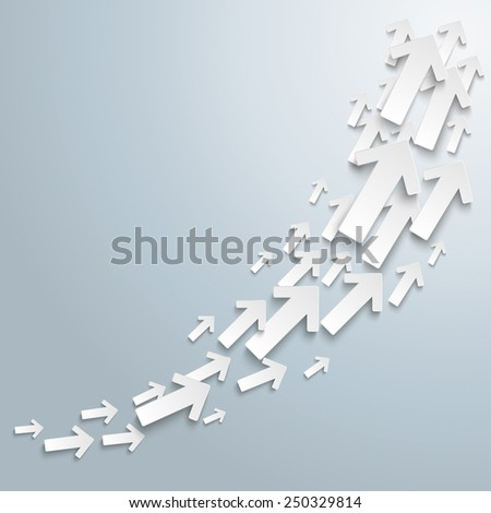 White arrows on the gray background. Eps 10 vector file. - stock vector