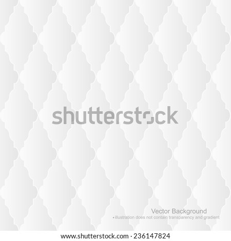 White background - seamless. (Vector illustration does not contain gradients and transparency) - stock vector