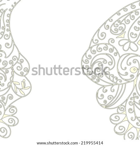 white background with abstract pattern with place for text vector